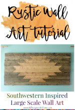 Giant DIY Rustic Wall Art tutorial