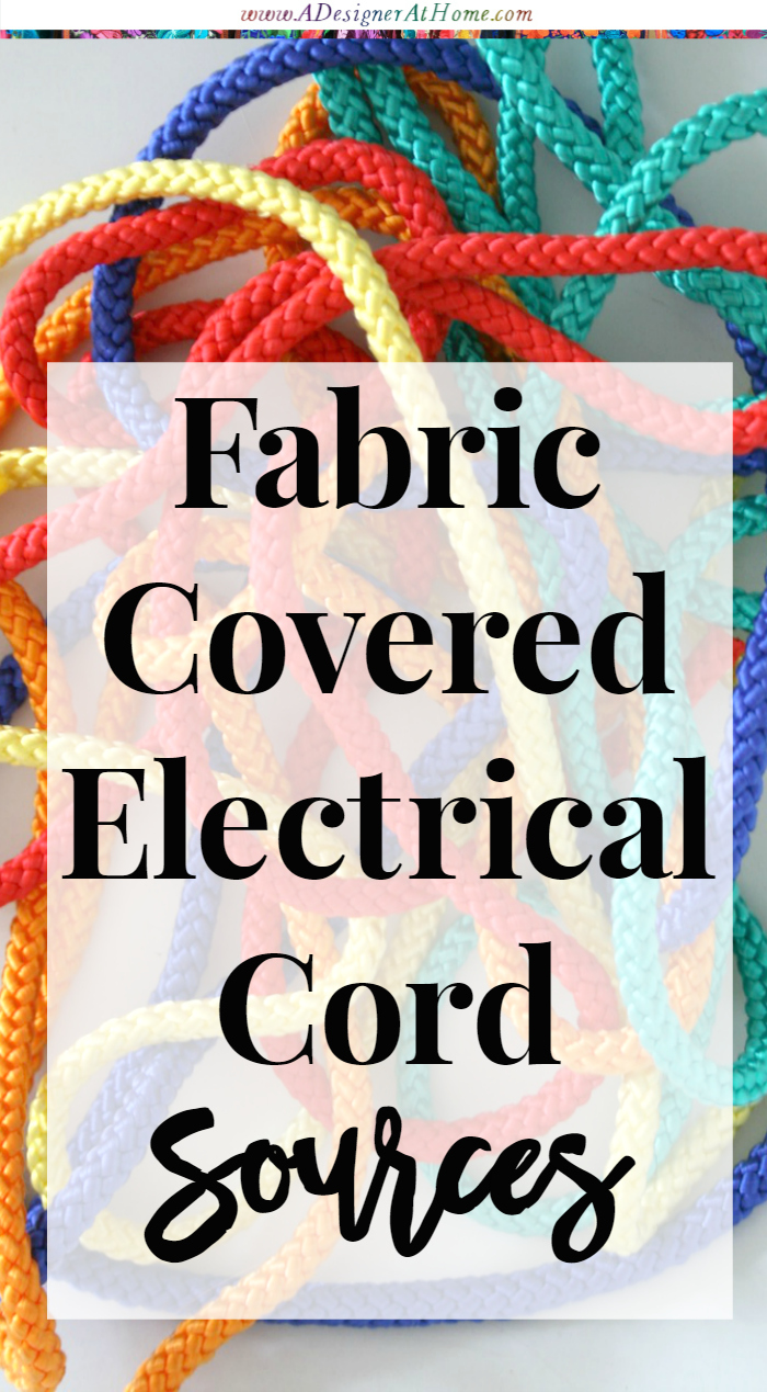 fabric covered electrical cord sources a designer at home. Black Bedroom Furniture Sets. Home Design Ideas