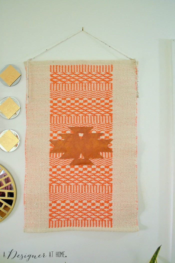 a handmade wall hanging made from an item you probably aren't expecting...