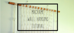 make it yourself macrame wall hanging