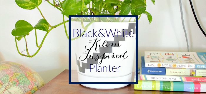 How I Made It: Black and White Planter