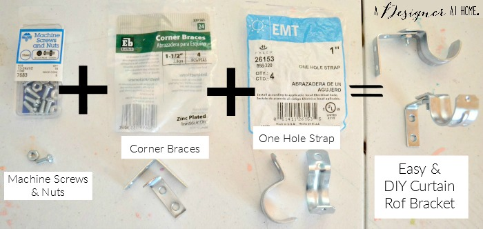 bracket equation using hardware store supplies for easy custom curtain rod brackets