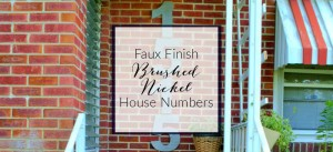 faux finish brushed nickel house numbers