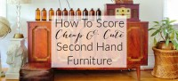 how to score cheap and cute second hand furniture