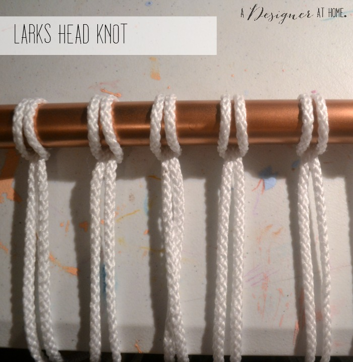larks head on copper painted conduit