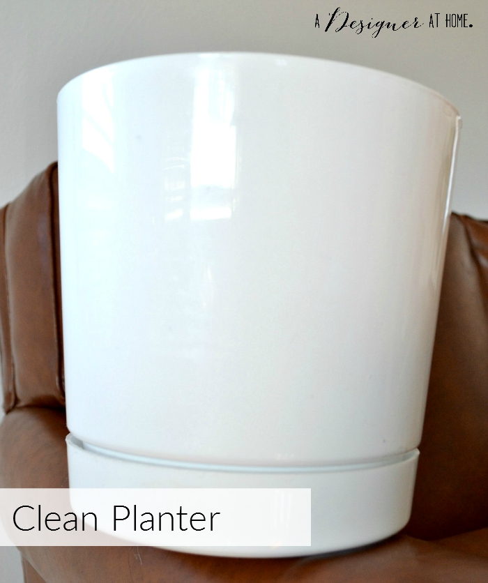 plain basic white planter from amazon