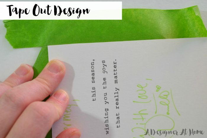 using a thick piece of paper to mark off corners of squares