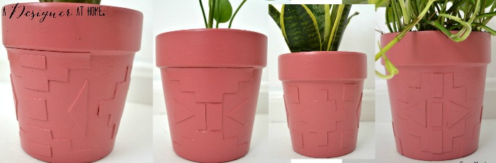variations of foam shape cut out dimensional painted planters
