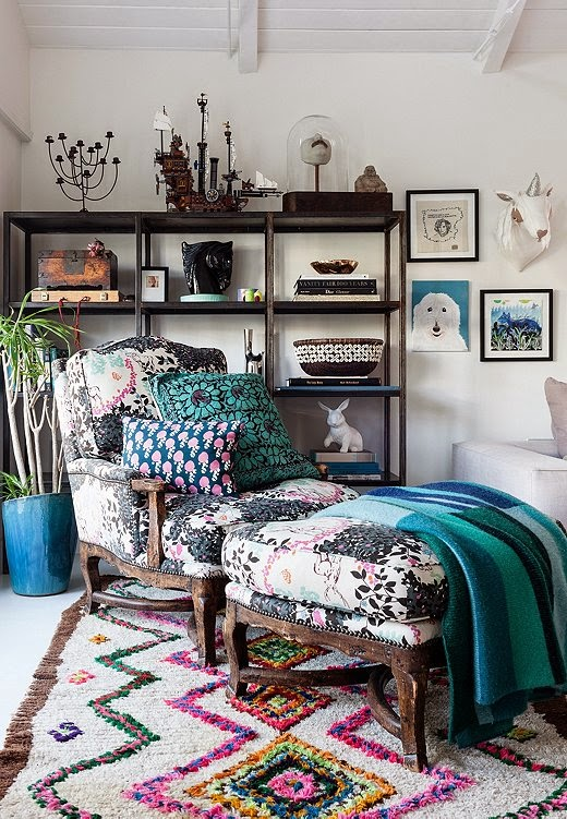 Irene Neuwirth's home via Mix and Chic blog.