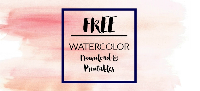 Free Watercolor Printable/Downloadable