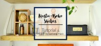 Rustic Boho Shelves Tutorial & IKEA Ekby Lerberg Hack