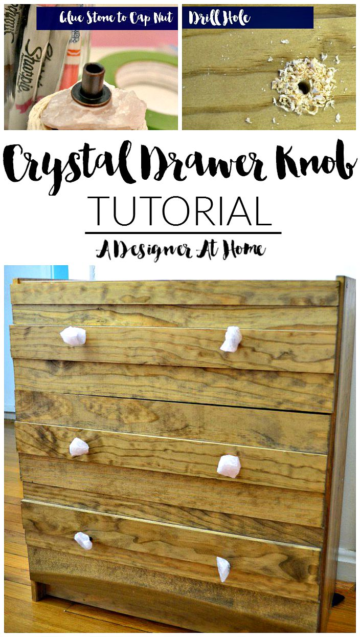 DIY Crystal Drawer Knobs (A Designer At Home tutorial)
