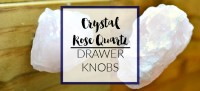 crystal rose quartz drawer pulls knobs (a designer at home)
