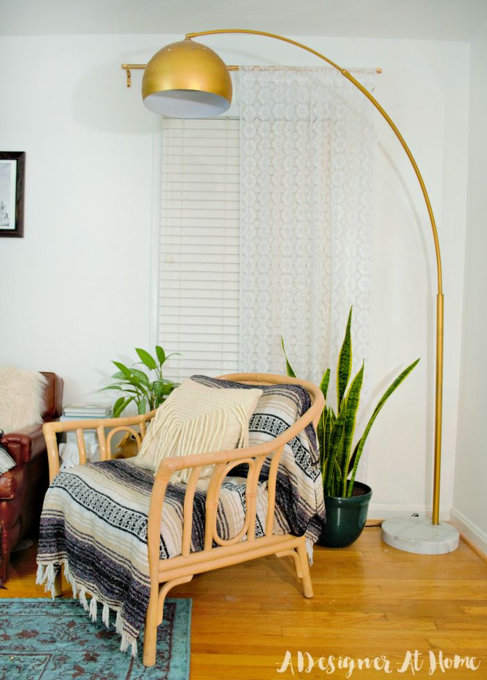 gold arc lamp enhanced amazon lamp never would have thought of it. Black Bedroom Furniture Sets. Home Design Ideas