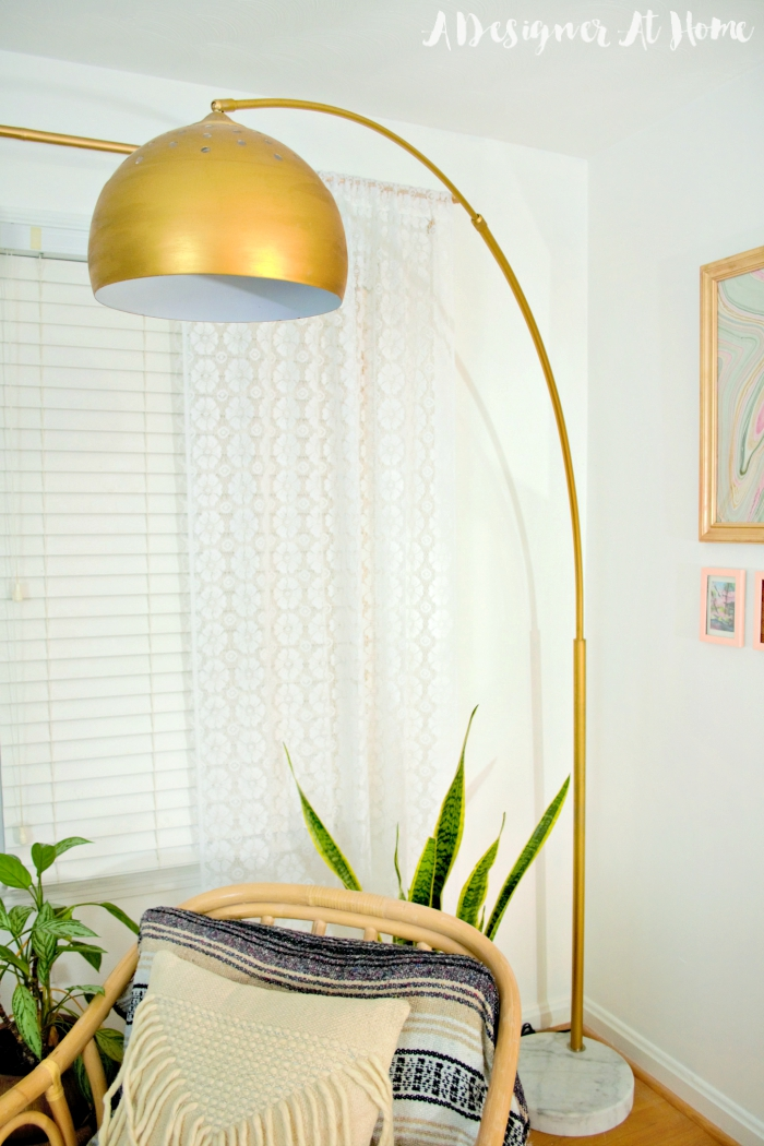 How I Made It Gold Arc Lamp A Designer At Home