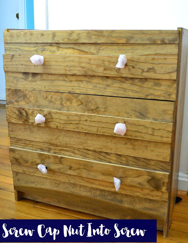 it all started with a rast dresser from ikea to west elm stria nightstand knock off to diy rose quartz drawer pulls