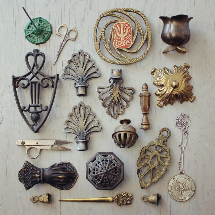 @suite22antiques Some metal goodies from the weekend that should all make it into my etsy shop this week!