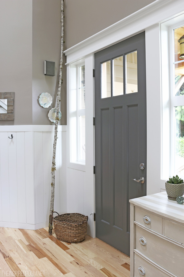 Charcoal-Painted-Front-Door-The-Inspired-Room