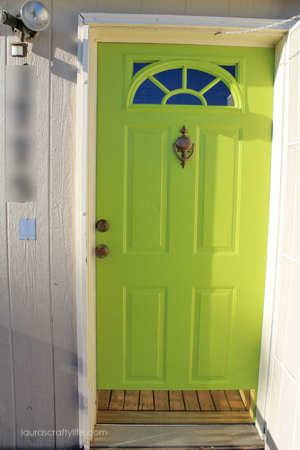 Front Door Painted With Modern Masters Fortunate