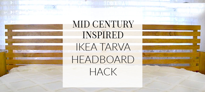Ikea Tarva Queen Bed Review ~   Made It Mid Century Inspired IKEA Tarva Bed Hack  A Designer At Home