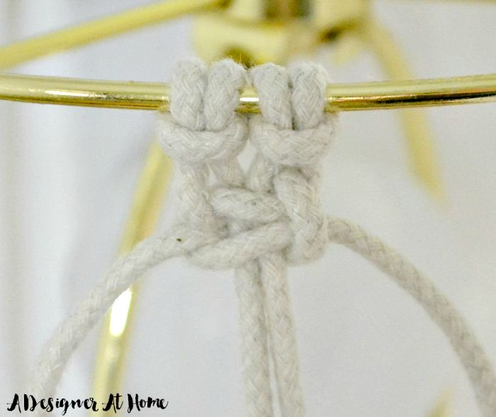 after two larkshead knots ties two square knots