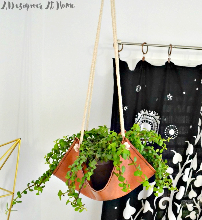 black-elephant-tapestry-behind-diy-pleather-planter-hanging-plant-sling