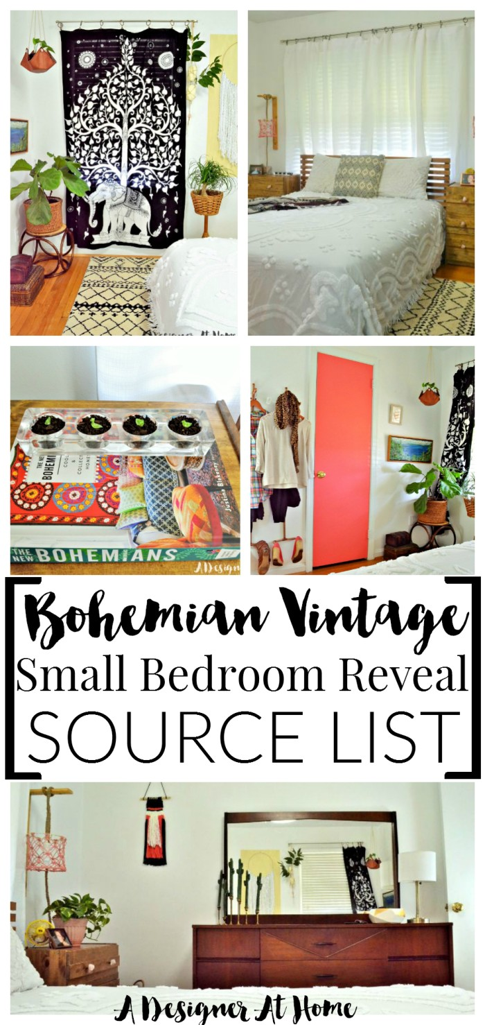 Boho vintage eclectic bedroom sources a designer at home List of home decor stores