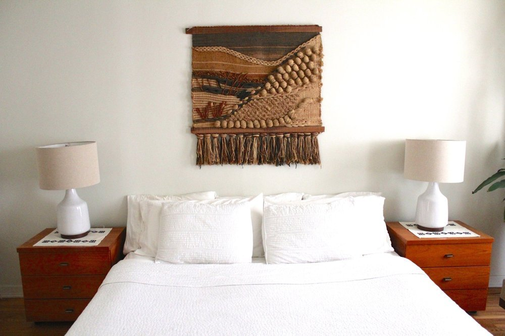 Crushing on wall hangings a designer at home for Hang bed from wall