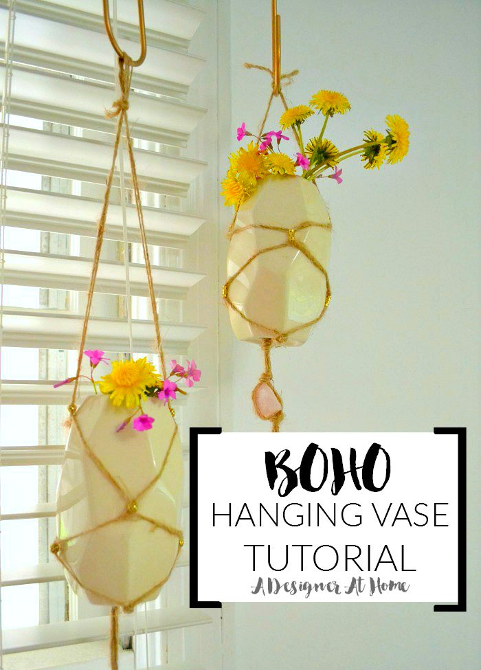 How I Made It Boho Braided Hanging Vases A Designer At Home