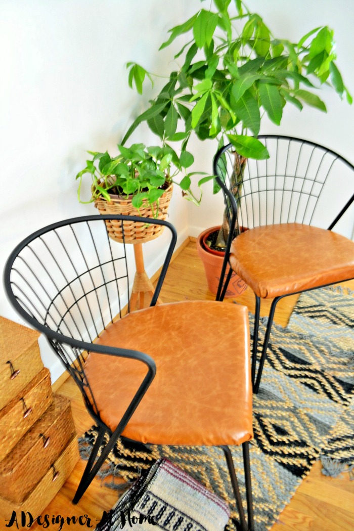 Vintage Retro Chair Pair Makeover