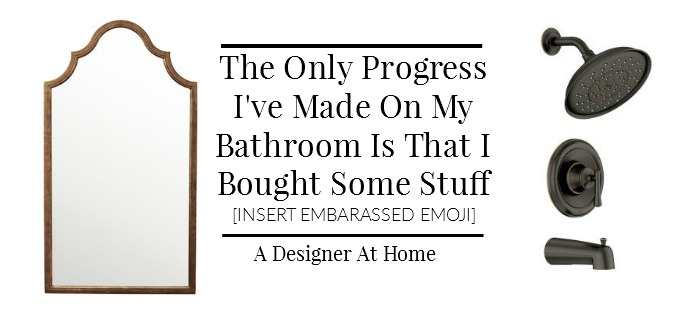 Bathroom Accessories + Bathroom Reno Progress