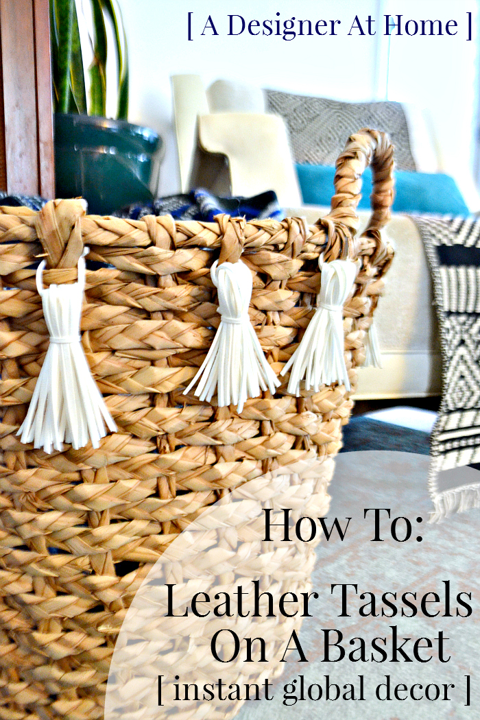 Get the look of global decor for cheap with this instant embellishment how to - leather tassels made with suede string, a video tutorial!