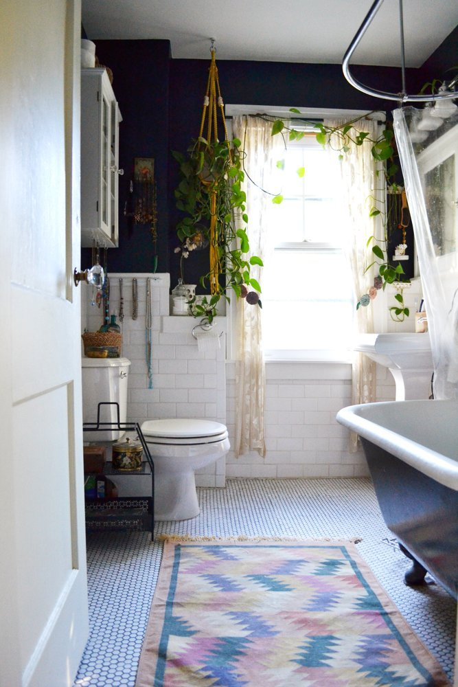 Lauren and Chad's Apartment Therapy Home Tour- Boho Bathroom