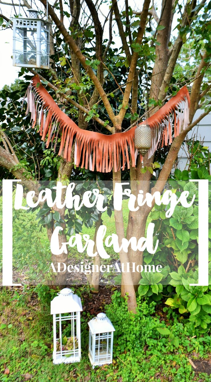 leather fringe banner garland boho rustic eclectic party wedding dining