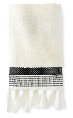 white-fringe-black-hand-towel