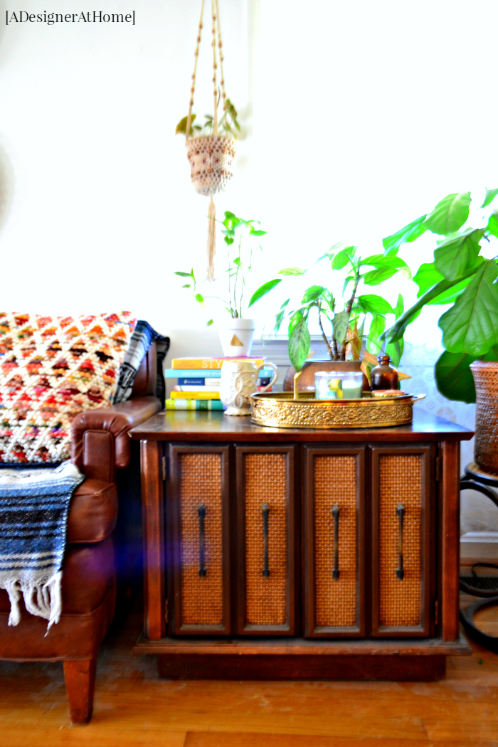 Styled Vintage Nightstand A Designer At Home