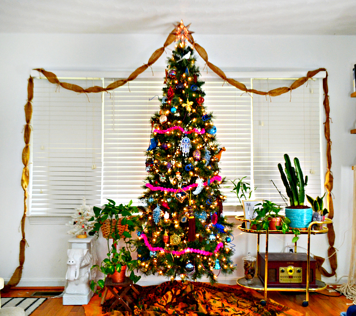 colorful, whimsical, bohemian Christmas Tree