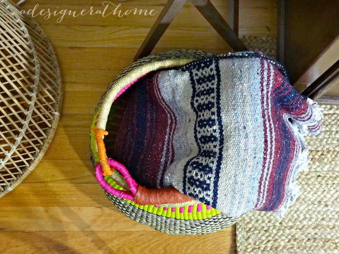 african global basket for throw blankets