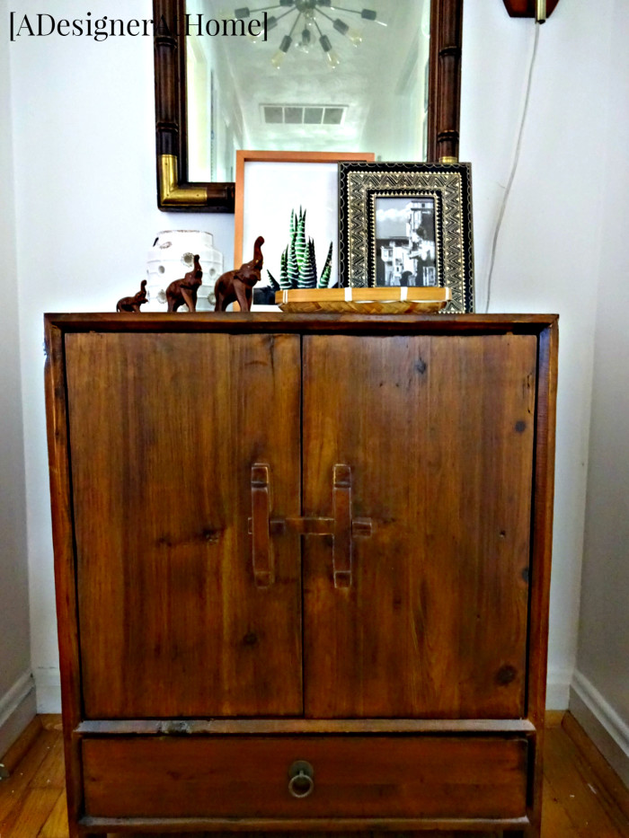 dongbei wood cabinet small for end of hallway storage