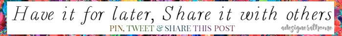 A Designer At Home - Share this post
