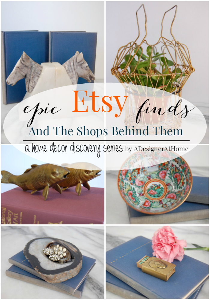 amazing vintage and handmade home decor made easy- find all the best ertsy shops through the epic etsy finds and the shops behind them series