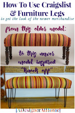 Knock It Off DIY: Upholstered Hairpin Bench