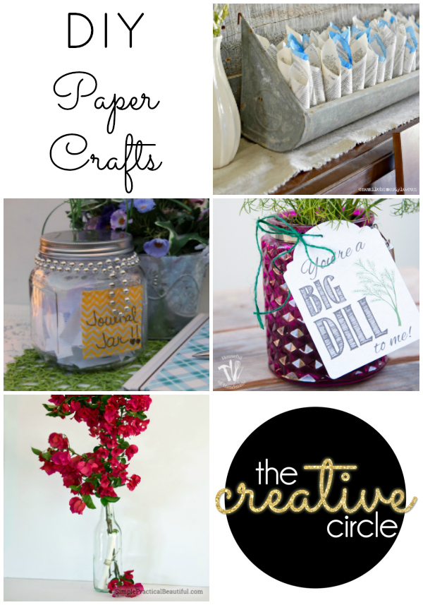 DIY paper crafts from The Creative Circle Link Up