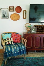 How To Decorate Around A TV With Thrift Store Decor