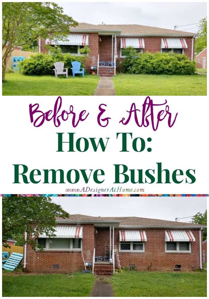How To Remove Bushes Expand your landscaping and curb appeal options by removing old unruly bushes