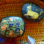 hand decorated gypsy bohemian containers