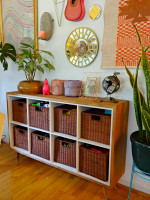 How we blend toy storage with our decor
