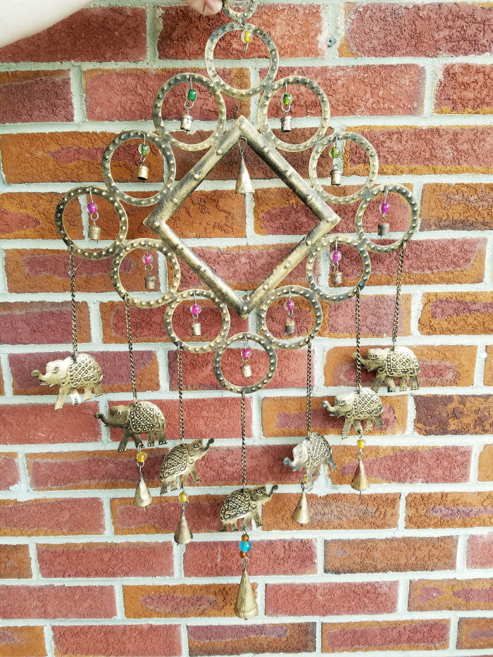 Metal WIndchime for front yard positive vibes feng shui