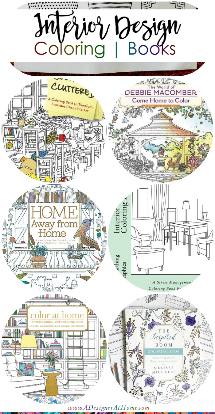 Interior Design Coloring Books