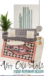 $1000 Bohemian Living Room Design
